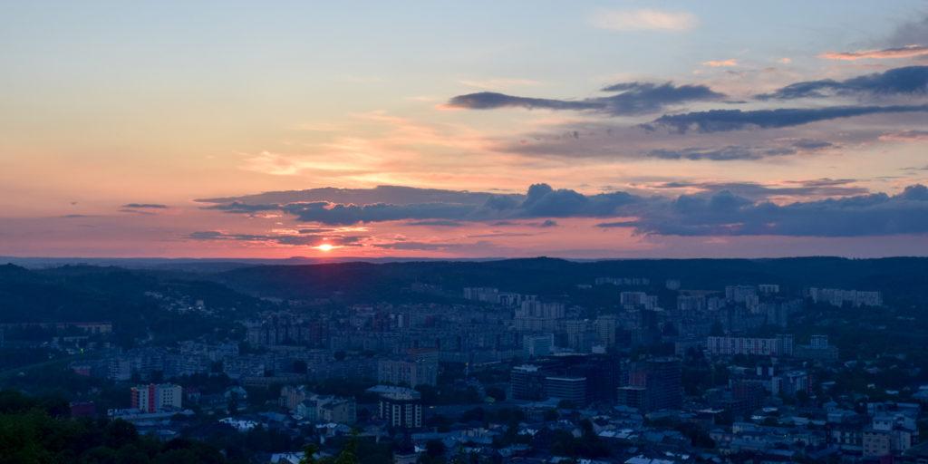 Закат на Замковой горе г. Львов