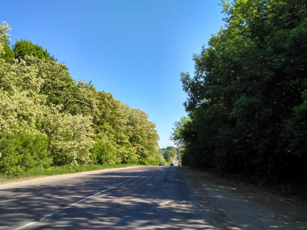 Дорога от Нововолынска в сторону Червонограда