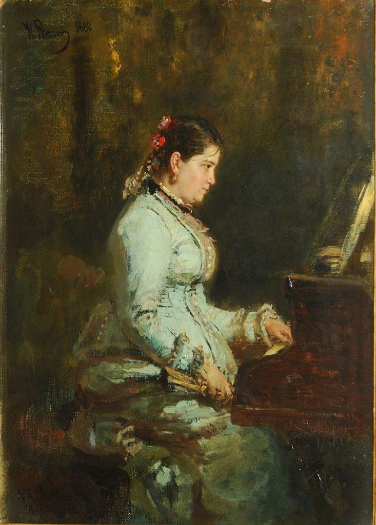Репин И. «У рояля. Портрет Софии Тарновской»